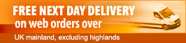 Free delivery on web orders over £95!
