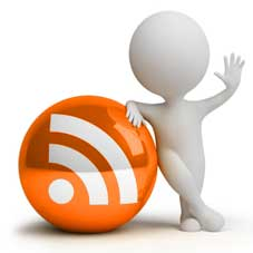 Man with RSS feed
