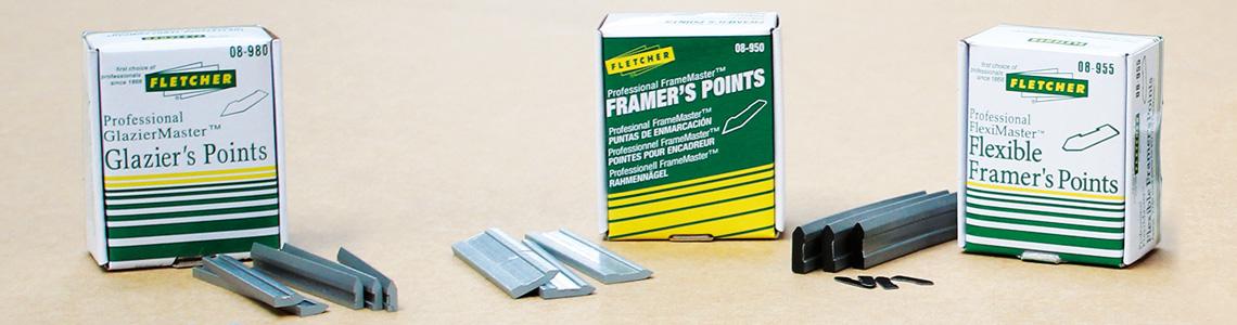 Framing Materials Points & Staples Desk